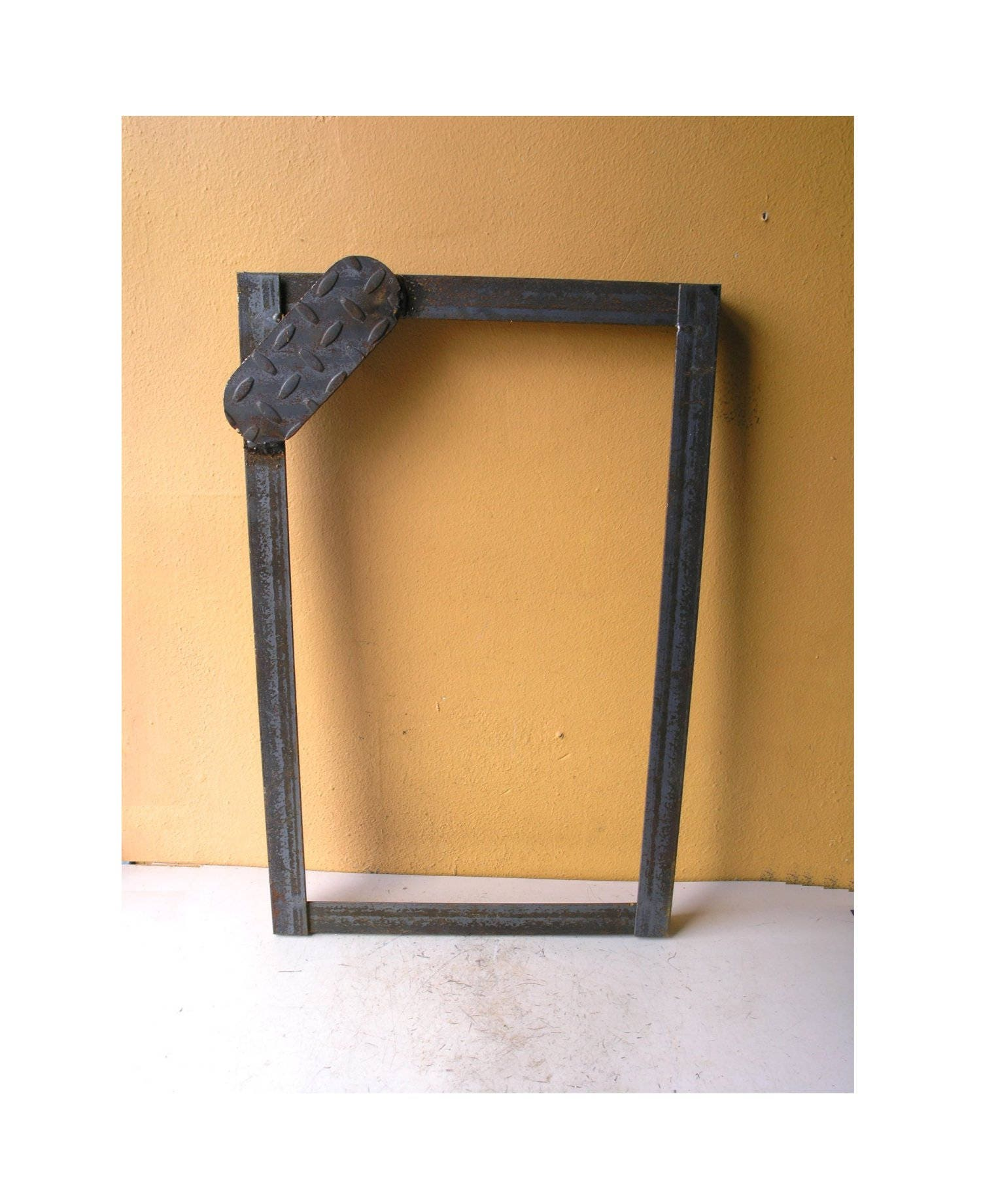 Angle Iron Picture Frame Mirror Frame Metal Wall Hanging Industrial ...