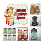 Customized Pinafore Apron (choose your own fabrics) relaxed fit smock with pockets, made-to-order XS to Plus Size, MOTHER/DAUGHTER option