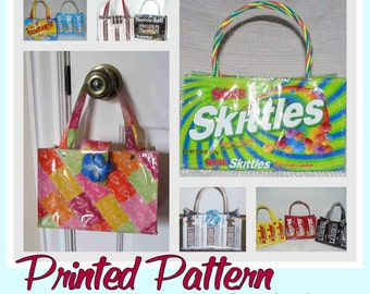Small Candy Wrapper Purse instruction guide (printed booklet -Postal delivery) DIY tutorial to make novelty purses using recycled wrappers