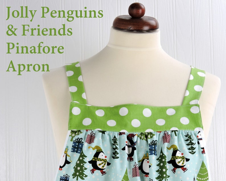 Jolly Penguins & Friends Pinafore with no ties relaxed fit image 0