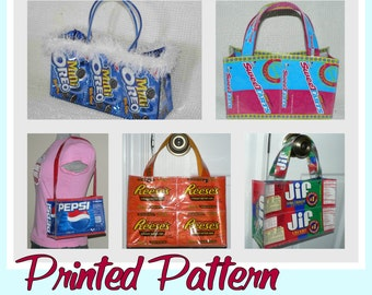 Cookie Wrapper Purse instruction guide (printed booklet -Postal delivery) DIY tutorial to make novelty purses using recycled wrappers