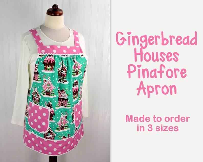 Gingerbread Houses Pinafore with no ties relaxed fit smock image 0