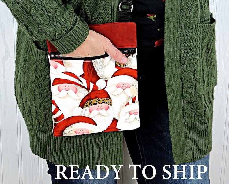 Hip Santa Hipster Bag  Small Crossbody Bag  7 X 9 inch size image 0