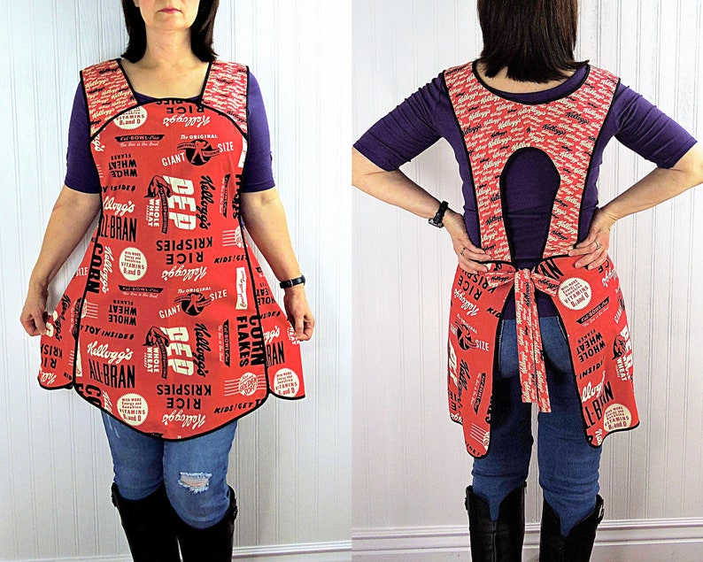 Vintage Kelloggs 50s Style Smock Apron relaxed fit smock image 0