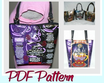 Coffee Wrapper Purse instruction guide (PDF download) DIY tutorial to make novelty purses using recycled wrappers