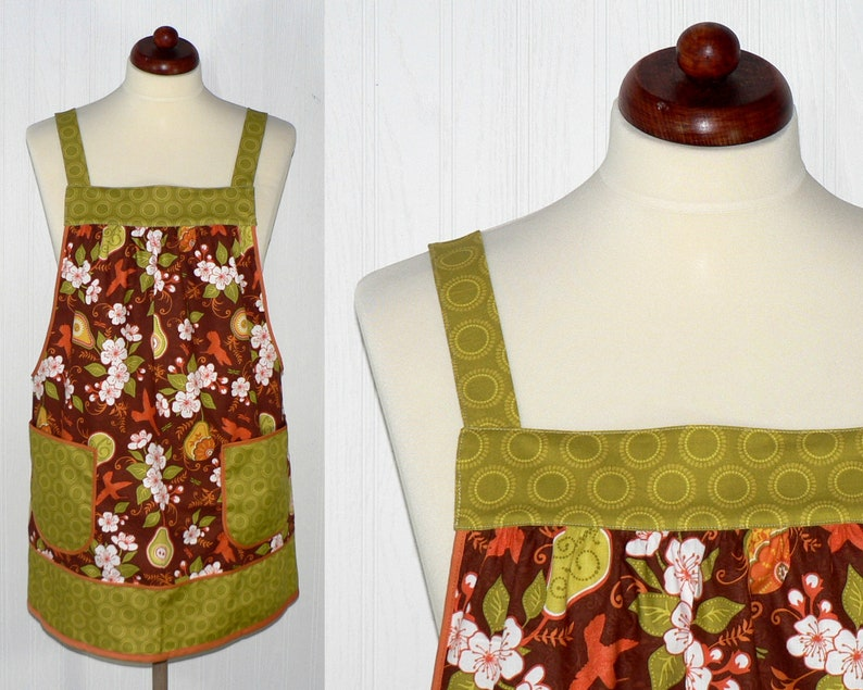 Fall Decadence Pinafore with no ties relaxed fit smock with image 0