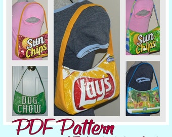 Chip Zip Purse instruction guide (PDF download) DIY tutorial to make novelty purses using recycled wrappers