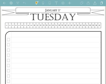 daily calendar etsy