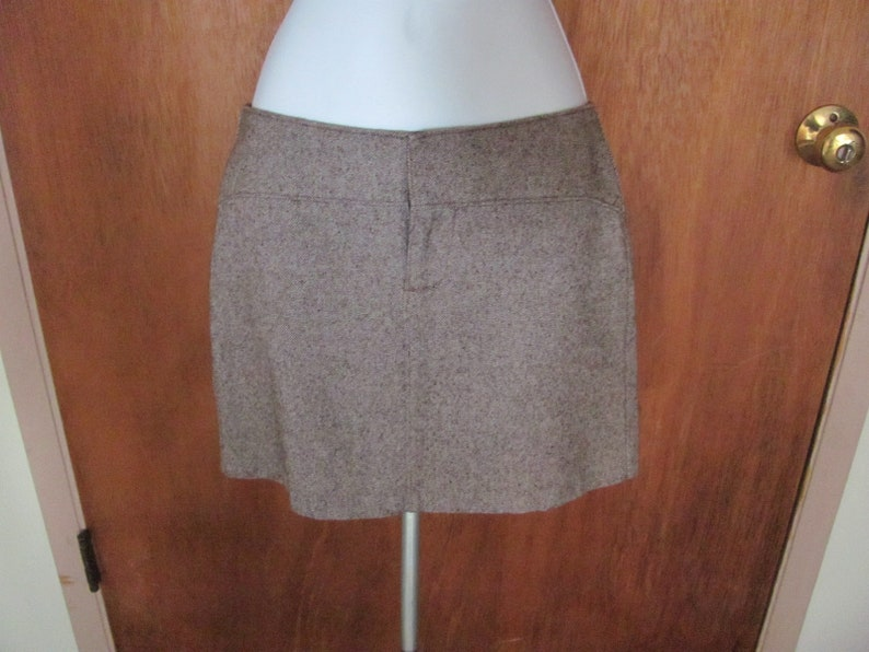 f1ec0805b Vintage brown tweed mini skirt Gap size 0 lined 1970s | Etsy
