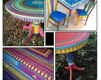 Superbe Hand Painted Furniture, Custom Hand Painted Furniture, Colorful Hand Painted  Furniture, Furniture Made To Order