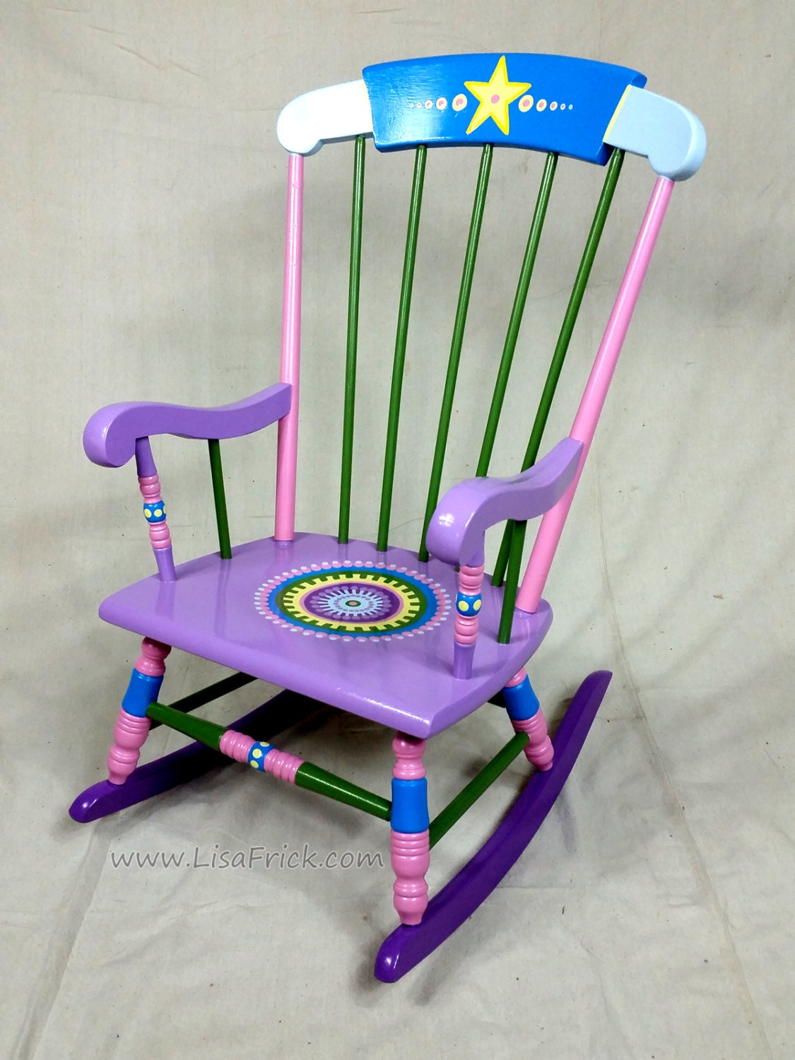 Child S Rocking Chair Custom Hand Painted Furniture Made