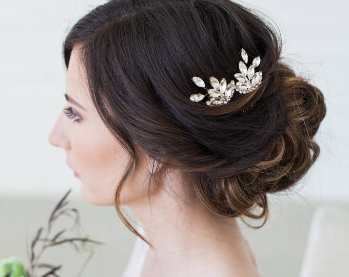Silver Wedding Hair Accessories, Crystal Hair Combs, Rose Gold art deco crystal hair comb, Crystal Hair Accessories, Vintage Style Hairpiece