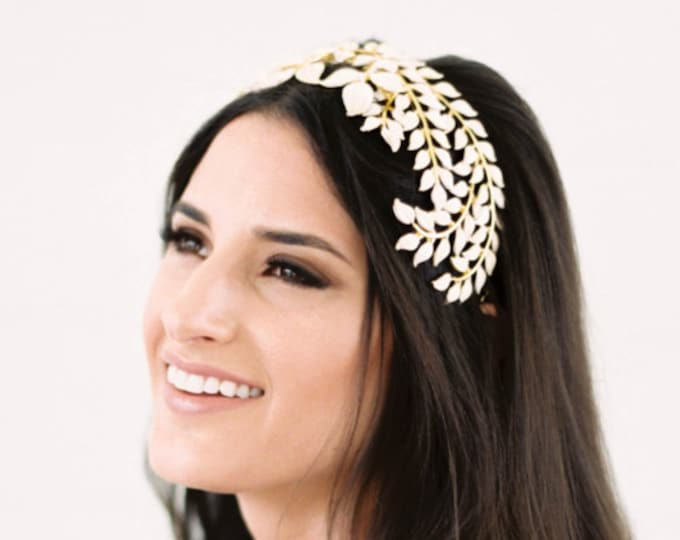 Gold Leaves Hair Comb, Hair Vine, Greek Goddess Hair Piece, Leaves Hair Crown, Bridal Hair Piece, Gold Headpiece, Bridal Hair Accessories
