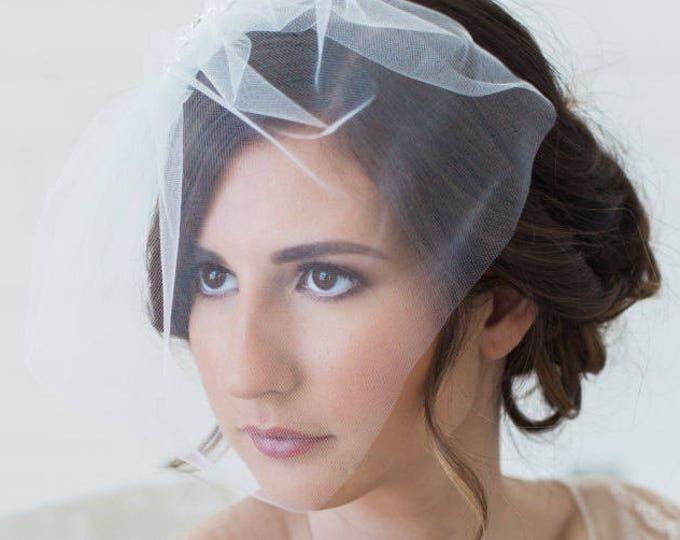 Mini Veil, Tulle Veil, Blusher Veil, Birdcage Veil, Short Wedding Veil, Small Veil, Mini Veil, Mini Birdcage Veil, Retro Veil, Brial Veil