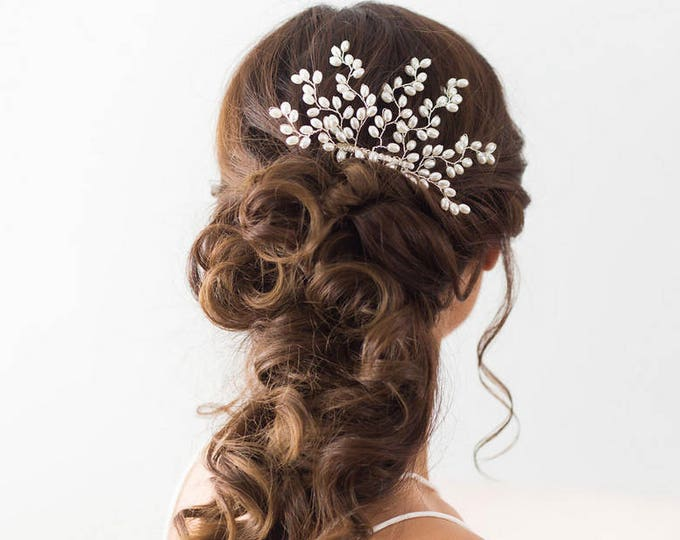 Pearl Hair Comb, Wedding Hair Accessories, Bridal Headpiece, Pearl Hair vine, Bridal Hair Comb, Wedding Headpiece with Pearls, Pearl comb