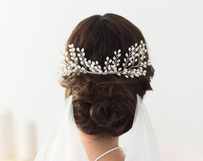 Bridal Pearl Hair Comb, Wedding Hair Accessories, Bridal Headpiece, Pearl Hair vine, Bridal Comb, Wedding Headpiece with Pearls, Pearl comb