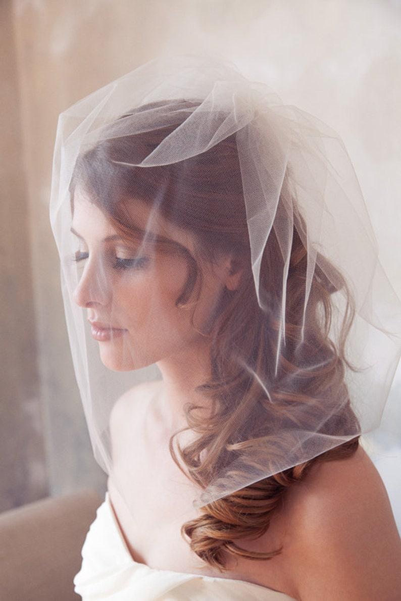 Tulle Birdcage Veil Bridal Illusion Birdcage Veil Blusher image 0
