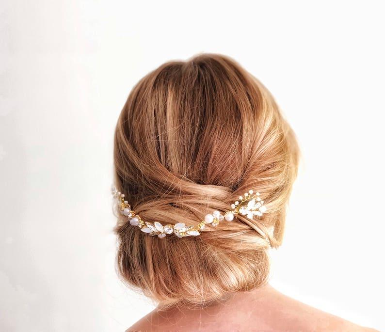 Hair Jewelry Updo Headpiece Bridal Hair Vine Wedding Hair image 0