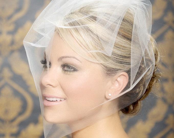 Blusher veil, Birdcage Veil, Bridal Veil, Wedding Veil, Blusher Veil, Bird Cage Wedding Veil, White, Ivory, Tulle Bird Cage Veil, voilette