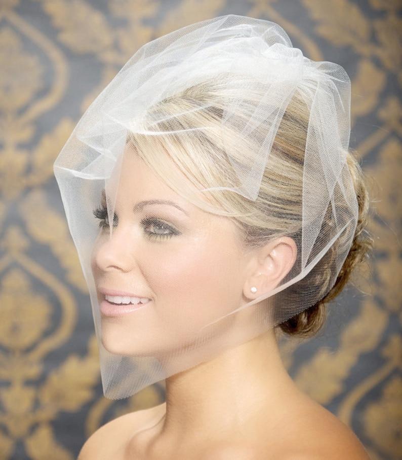Blusher veil Birdcage Veil Bridal Veil Wedding Veil image 0
