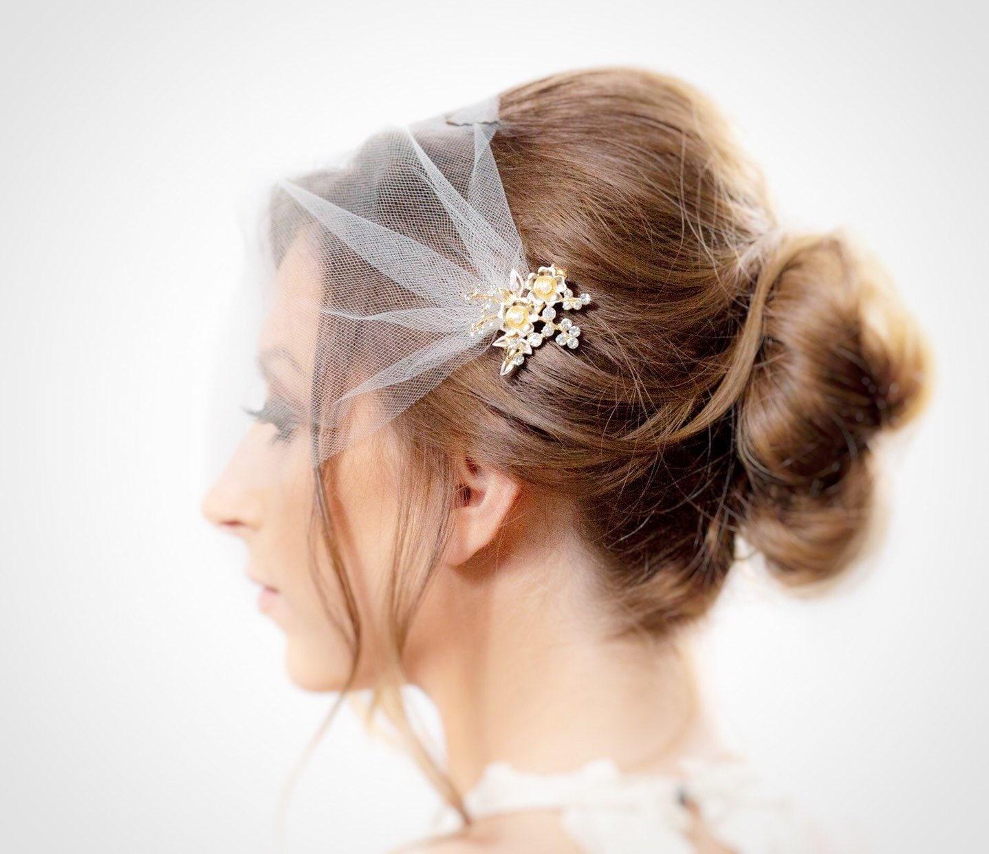 acb8abc3 Ivory Birdcage Veil Wedding Veil blusher veil bridal veil | Etsy