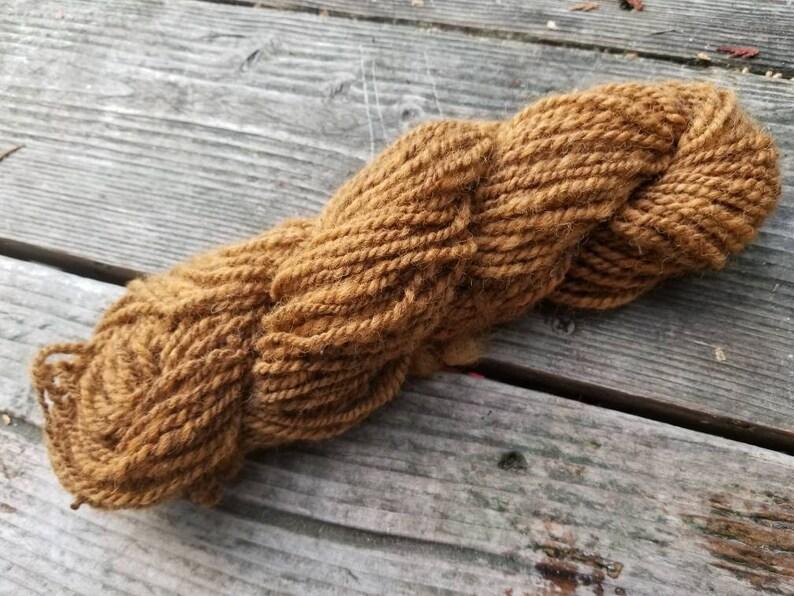 75 yard of hand-spun Walnut dyed Dorset wool yarn