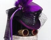 Victorian steampunk purple top hat