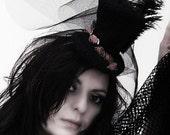 Black Victorian Mini top hat