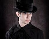 Gothic raven black top hat