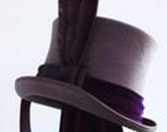 Gothic steampunk grey top hat