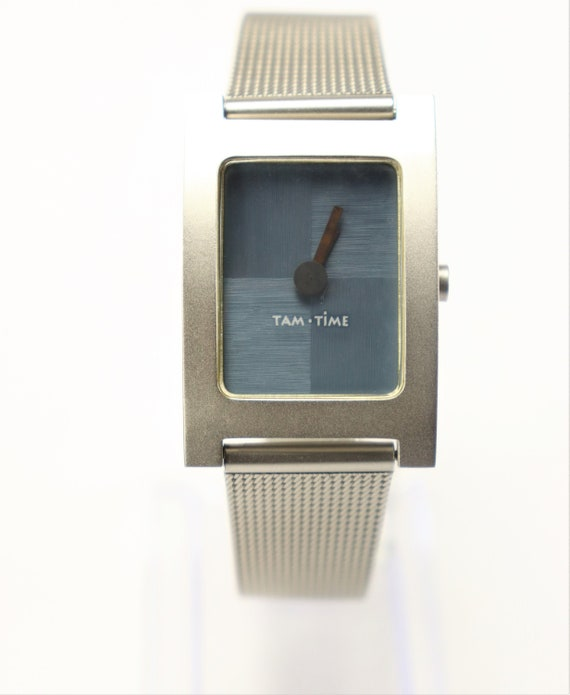 Tam Time Watch 1990's (Blue Checkered Dial) Vintag