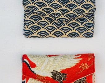 PORTE MONNAIE origami, en tissu japonais