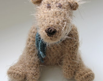Crochet Pattern for Scruff - a Scruffy Jointed Teddy Bear