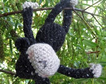 Charlie - a hand crocheted cheeky monkey!