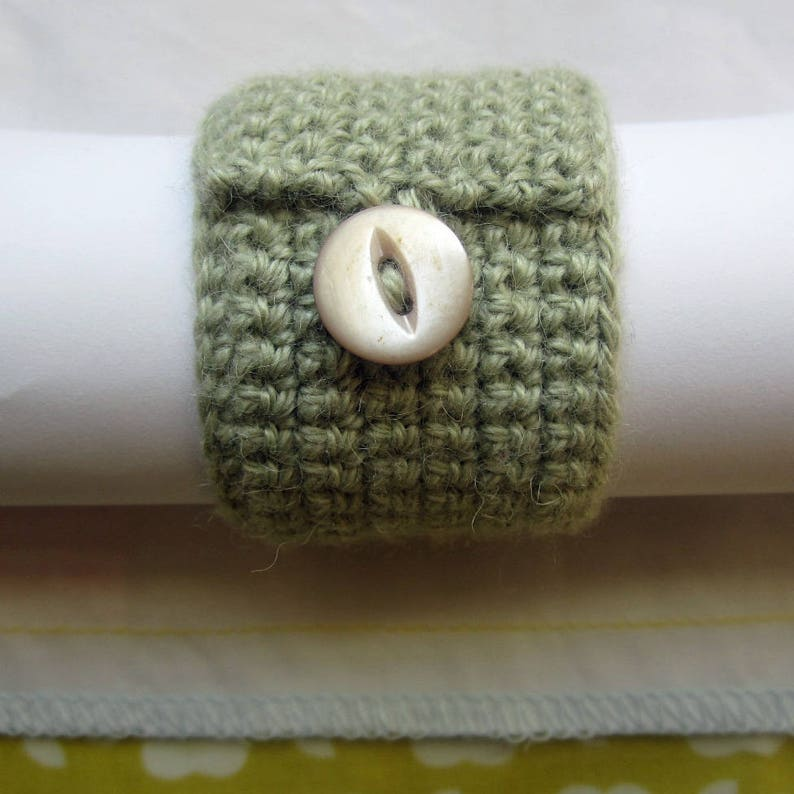 Crochet Pattern for Button Napkin Ring image 0