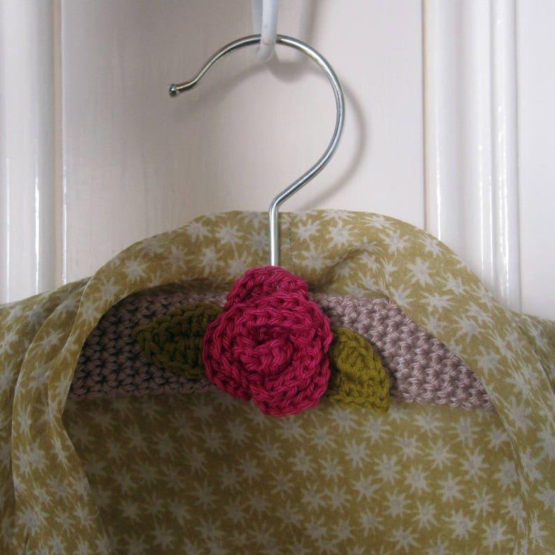 Crochet Pattern for Rose Coat Hanger image 0