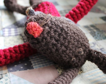 Scarlet - a hand crocheted bunny wabbit