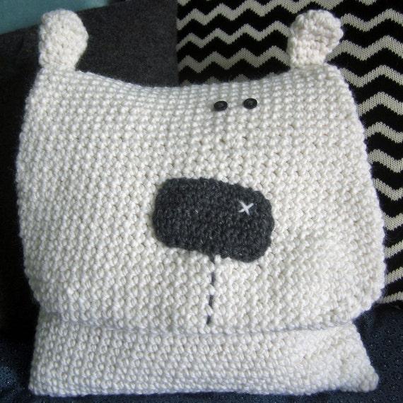 Häkeln Muster für Snowball das Eisbär-Kissen / Pyjama Bag | Etsy