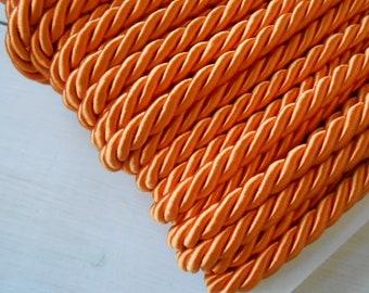2.59 Mtrs of Fabulous Vintage French Orange Woven Passementerie Trim-Great Retro 1960/'s Design /& Colour Palette,Perfect for Projects