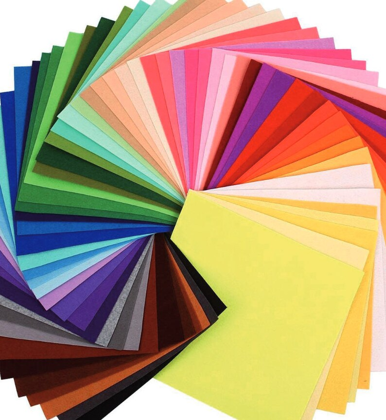 Felt 10 Sheets Craft Thin Felt Solid Colors Patchwork cm 20x30