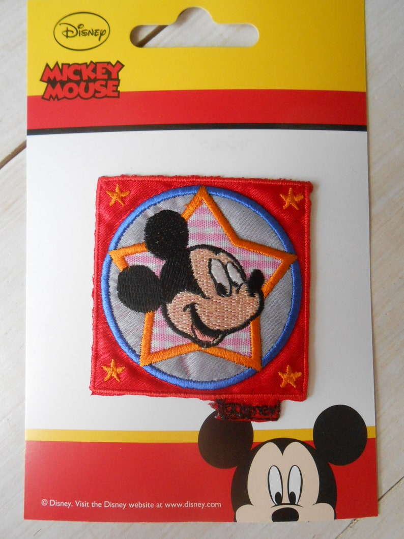 Patch Mickey Mouse Disney Applique Embroidered Iron-on Transfert