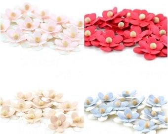 Fabric Flowers Applique Self Adhesive 12 pcs