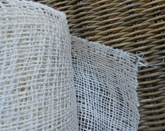 Raw Jute Natural Fabric Bleached 2 yards