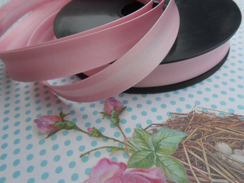Satin Bias Tape Binding Baby Pink Double Folded