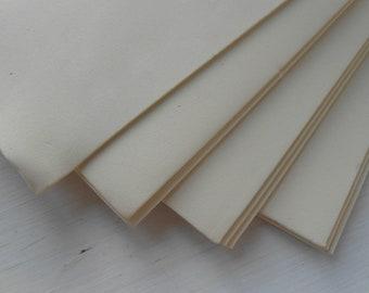 Moosgummi 3 Sheets EVA Foam Craft Fommy Solid Color 40x30 Cream