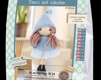 Knitting Kit Pattern Frida Small Doll Collection