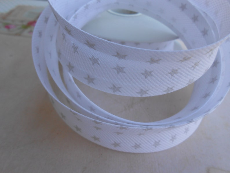 Bias Tape Binding Piquet with Stars 1 width 5 Yards