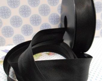 Satin Bias Tape Binding Black Sewing Edge Double Folded