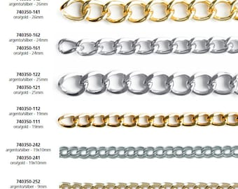 Chains Aluminium Gold and Silver Bag Handles 1 meter