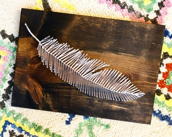 Feather String Art Kit